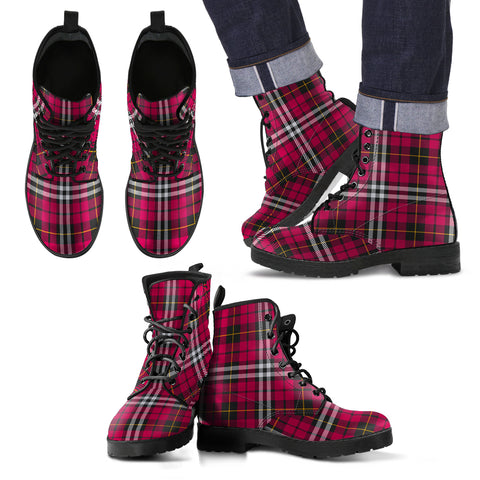 Little Tartan Leather Boots Footwear Shoes