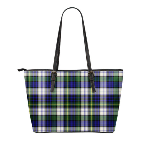 Gordon Dress Modern Tartan Leather Tote Bag (Small) | Over 500 Tartans | Special Custom Design