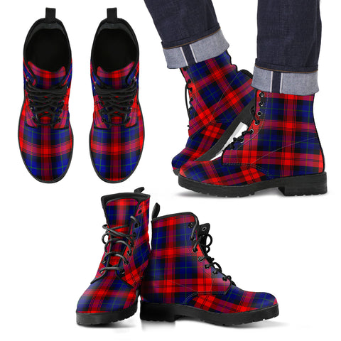 MacLachlan Modern Tartan Leather Boots Footwear Shoes