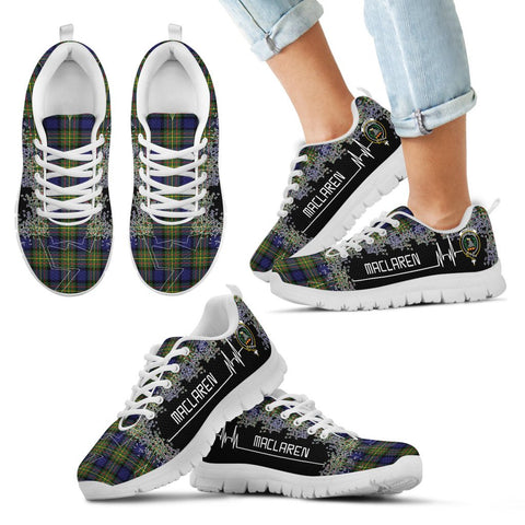Image of MacLaren Modern Tartan Heartbeat Sneakers TH8