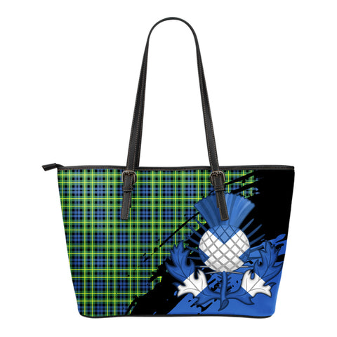 Campbell of Breadalbane Ancient Leather Tote Bag Small | Tartan Bags