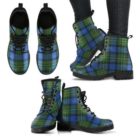 MacLaren Ancient Tartan Leather Boots A9