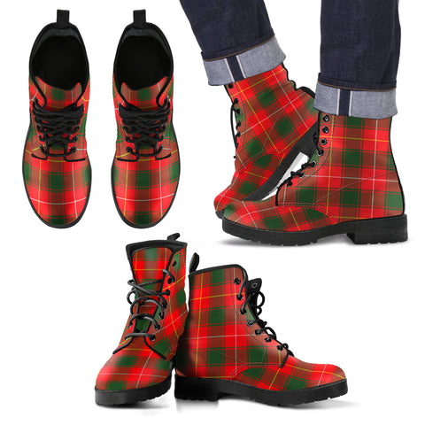 Image of MacFie Tartan Leather Boots Footwear Shoes