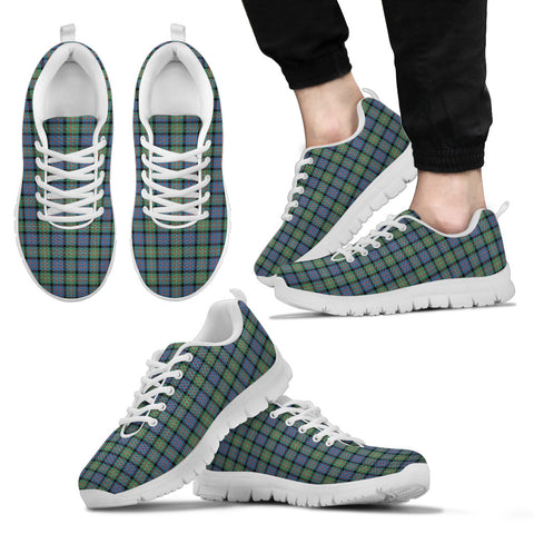 MacDonnell of Glengarry Ancient, Men's Sneakers, Tartan Sneakers, Clan Badge Tartan Sneakers, Shoes, Footwears, Scotland Shoes, Scottish Shoes, Clans Shoes