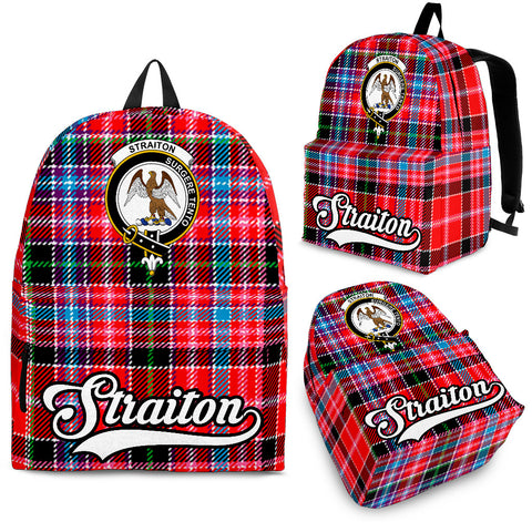 Straiton Tartan Clan Backpack | Scottish Bag | Adults Backpacks & Bags