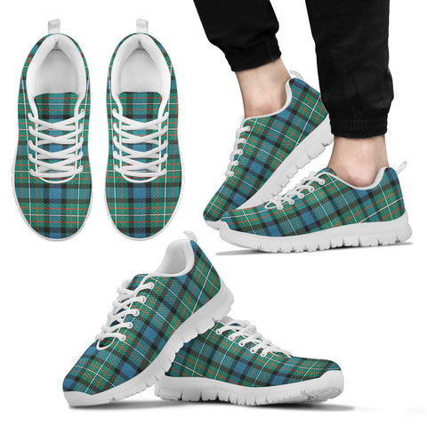 Ferguson Ancient, Men's Sneakers, Tartan Sneakers, Clan Badge Tartan Sneakers, Shoes, Footwears, Scotland Shoes, Scottish Shoes, Clans Shoes