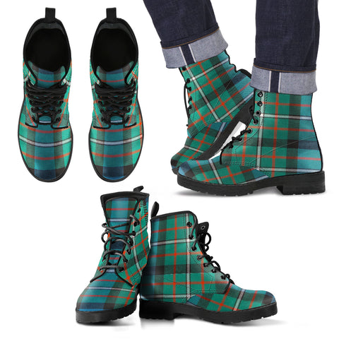 Image of Ferguson Ancient Tartan Leather Boots Footwear Shoes