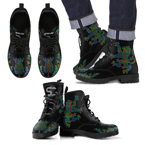 Aiton Tartan Leather Boots Lion And Thistle TH8
