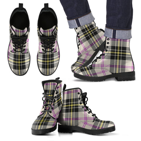 MacPherson Dress Ancient Tartan Leather Boots Footwear Shoes