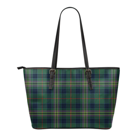 Kennedy Modern Tartan Leather Tote Bag (Small) | Over 500 Tartans | Special Custom Design
