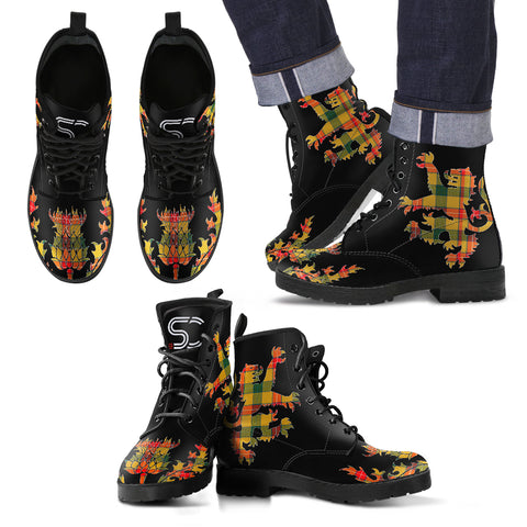 Baxter Tartan Leather Boots Lion And Thistle TH8