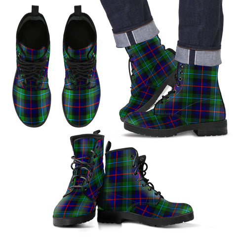 Campbell of Cawdor Modern  Tartan Leather Boots Footwear Shoes