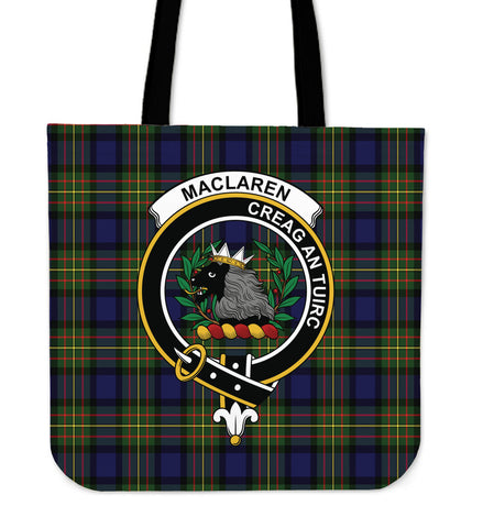 Tartan Tote Bag - MacLaren Modern Clan Badge | Special Custom Design