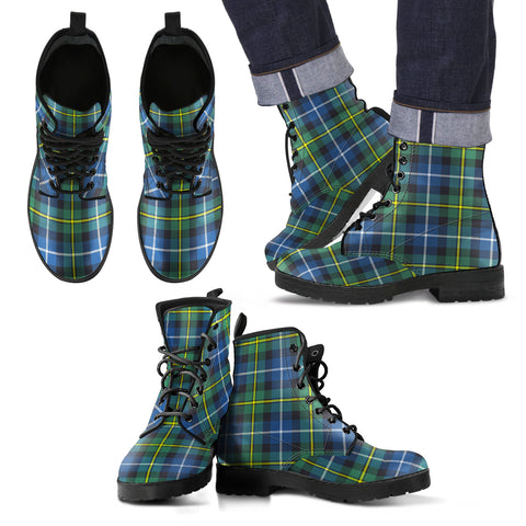 MacNeill of Barra Ancient Tartan Leather Boots Footwear Shoes