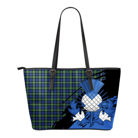 Campbell Argyll Ancient Leather Tote Bag Small | Tartan Bags