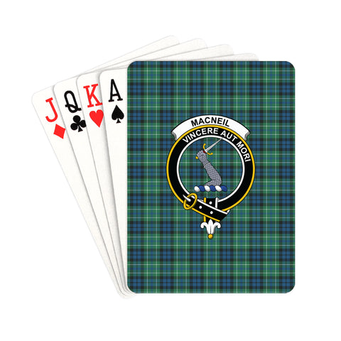 MacNeill of Colonsay Ancient Tartan Clan Badge Playing Card | scottishclans.co