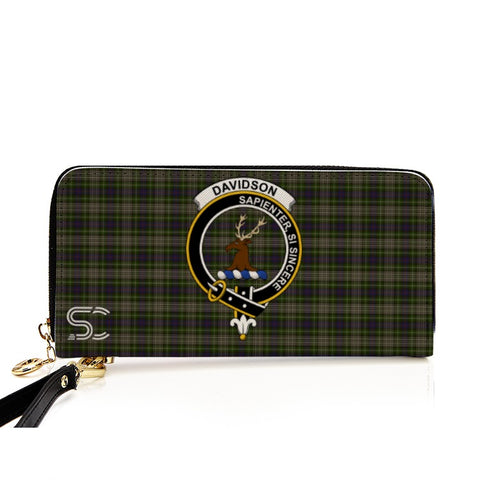 Davidson Tulloch Dress Crest Tartan Zipper Wallet