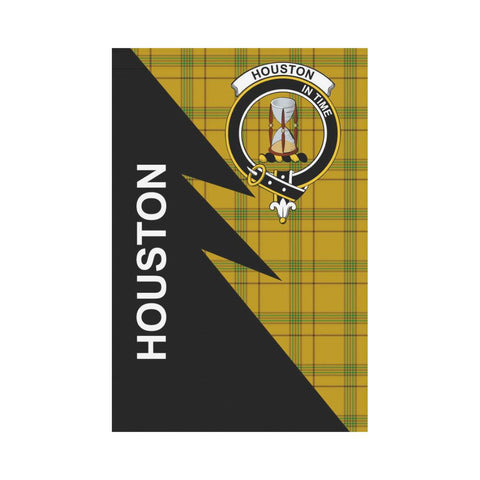 "Houston Tartan Garden Flag - Flash Style 12"" x 18"""