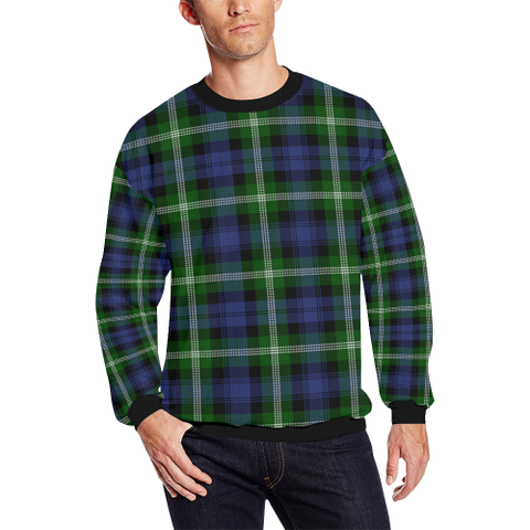 Image of Baillie Modern Tartan Crewneck Sweatshirt TH8