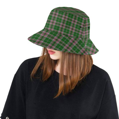 Image of Gray Hunting Tartan Bucket Hat for Women and Men K7