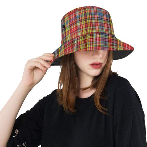 Image of Drummond Of Strathallan Tartan Bucket Hat for Women and Men | Scottishclans.co