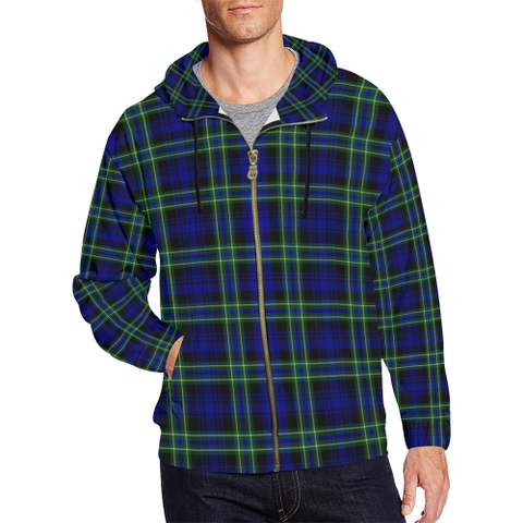 Arbuthnot Modern Tartan Zipped Hoodie | Special Custom Products