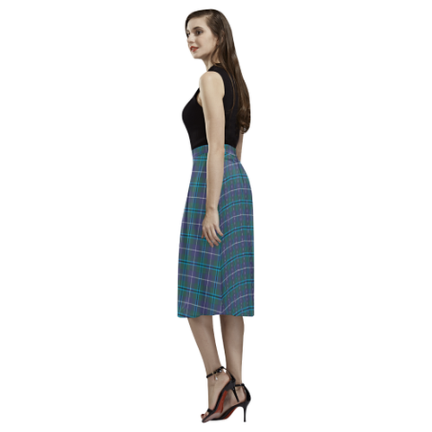 Image of Douglas Modern Tartan Aoede Crepe Skirt | Exclusive Over 500 Tartan