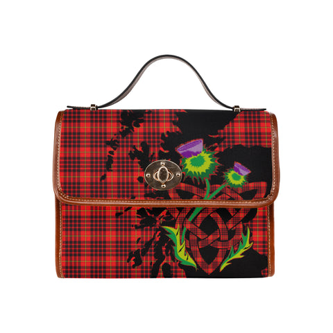 MacIan Tartan Map & Thistle Waterproof Canvas Handbag| Hot Sale