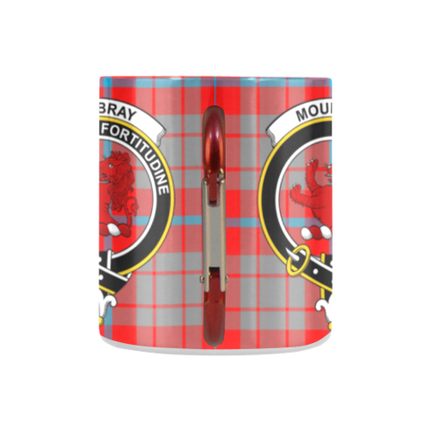 Image of Moubray Tartan Mug Classic Insulated - Clan Badge K7