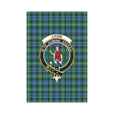 Lyon Clan Tartan Flag Clan Badge K7