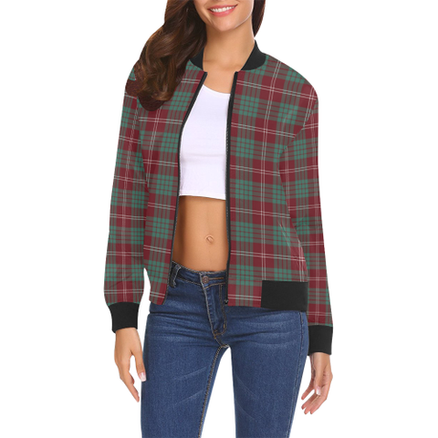 Image of Crawford Modern Tartan Bomber Jacket | Scottish Jacket | Scotland Clothing