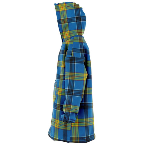 Image of Laing Snug Hoodie - Unisex Tartan Plaid Left