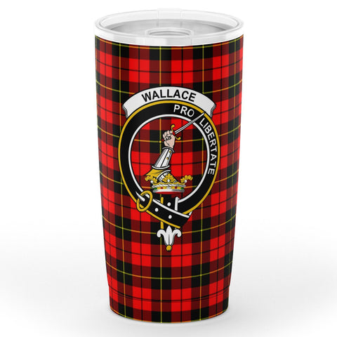 Image of Wallace Tartan Tumbler, Scottish Wallace Plaid Insulated Tumbler - BN