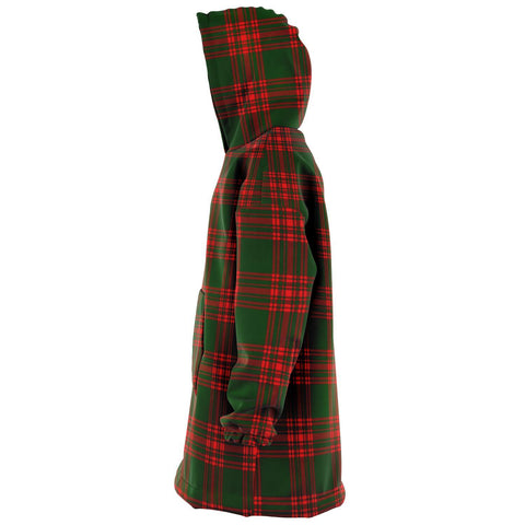 Menzies Green Modern Snug Hoodie - Unisex Tartan Plaid Left