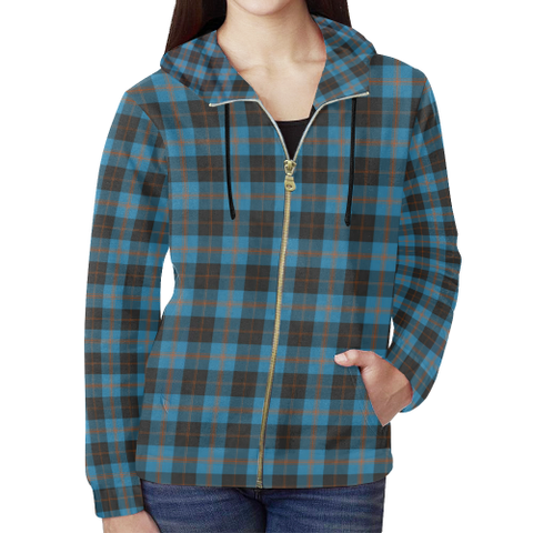 Angus Ancient Tartan Zipped Hoodie | Special Custom Products