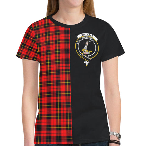 Wallace Hunting - Red T-shirt Half In Me TH8