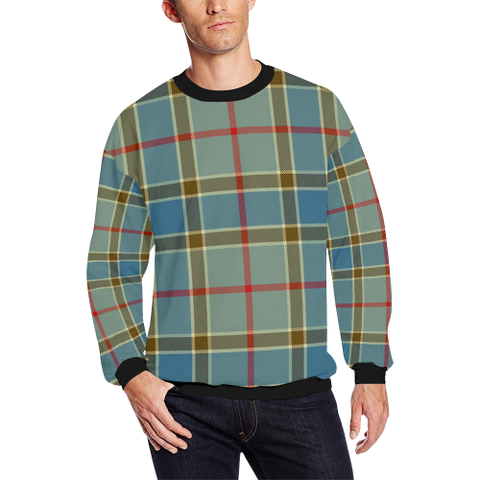 Image of Balfour Blue Tartan Crewneck Sweatshirt TH8