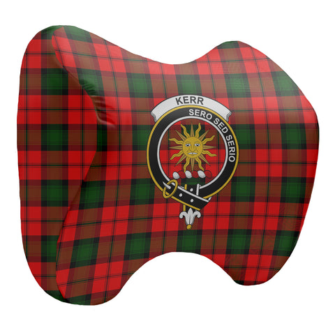 Image of Kerr Tartan Head Cushion Clan Badge K7