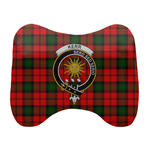 Image of Kerr Tartan Head Cushion Clan Badge scottishclans.co