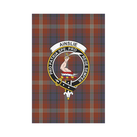 Ainslie Tartan Flag Clan Badge | Scottishclans.co