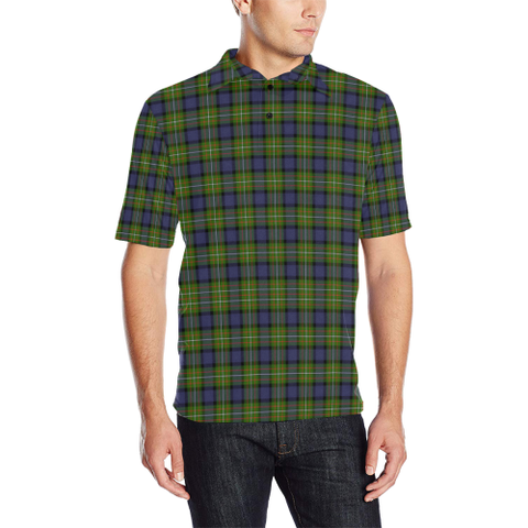 Image of Fergusson Modern Tartan Polo Shirt