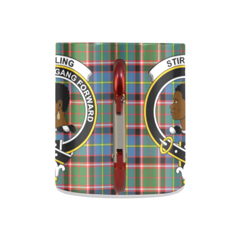 Image of Stirling (Of Keir) Tartan Mug Classic Insulated - Clan Badge K7