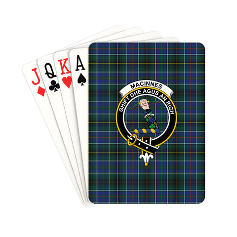 MacInnes Modern Tartan Clan Badge Playing Card | scottishclans.co