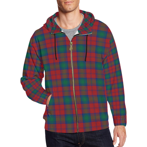 Lindsay Modern Tartan Zipped Hoodie | Special Custom Products