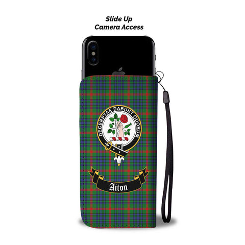 Aiton Clan Tartan Wallet Phone Case | Special Custom Design