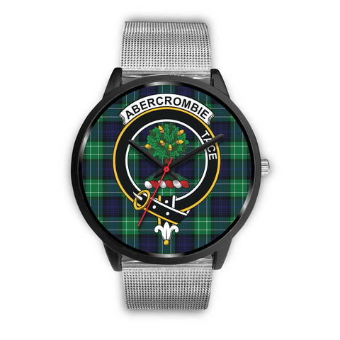 Abercrombie Clans ,Rose Gold Metal Link watch, leather steel watch, tartan watch, tartan watches, clan watch, scotland watch, merry christmas, cyber Monday, halloween, black Friday