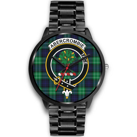 Abercrombie Clans ,Black Metal Link watch, leather steel watch, tartan watch, tartan watches, clan watch, scotland watch, merry christmas, cyber Monday, halloween, black Friday
