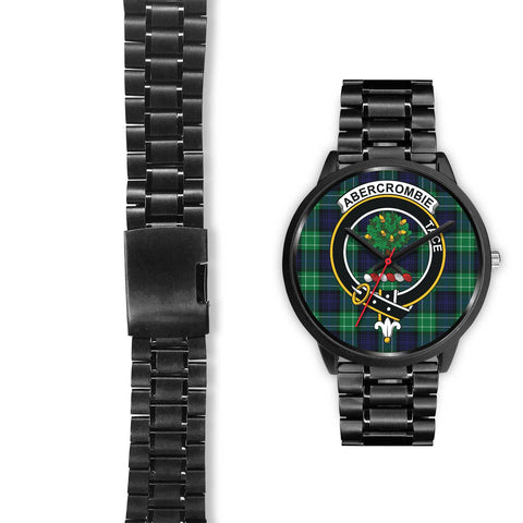 Abercrombie Clans ,Black Leather watch, leather steel watch, tartan watch, tartan watches, clan watch, scotland watch, merry christmas, cyber Monday, halloween, black Friday