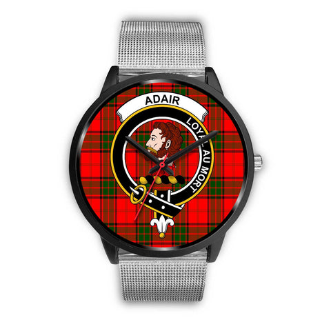 Adair Clans ,Rose Gold Metal Link watch, leather steel watch, tartan watch, tartan watches, clan watch, scotland watch, merry christmas, cyber Monday, halloween, black Friday