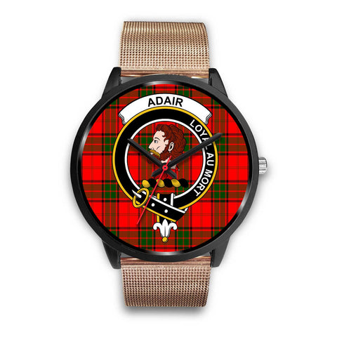 Adair Clans ,Brown Leather watch, leather steel watch, tartan watch, tartan watches, clan watch, scotland watch, merry christmas, cyber Monday, halloween, black Friday